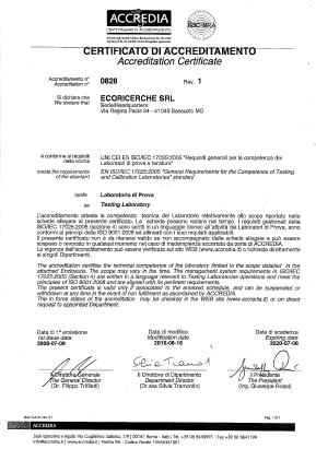 Certificato Accredia